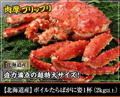 【北海道産】ボイルたらばがに姿 1杯(2kg以上)